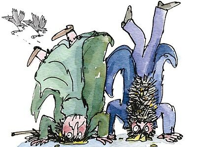Roal Dahl Quentin Blake Set Of 4 Prints A4 Size 11.5X8.5 Inches 4.99 Free Post