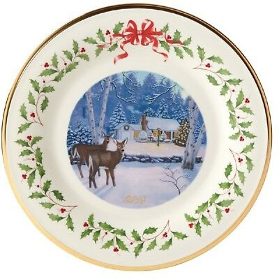 2018 Lenox Outdoor Cabin Forest Christmas Holiday Collectors Plate 879271 New