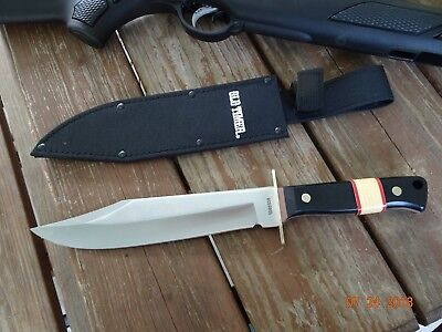 "Old Timer Schrade15.5"" Oa Bowie Knife 10"" 440 S.s. Bl Ot Saw Cut Handle H D She"