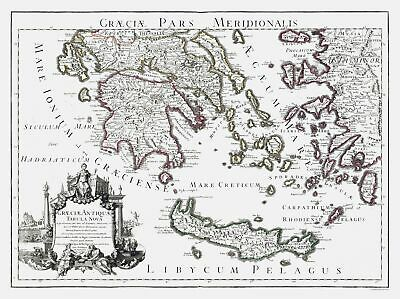 International Map - Ancient South Greece - Lisle 1731 - 30.81 x 23
