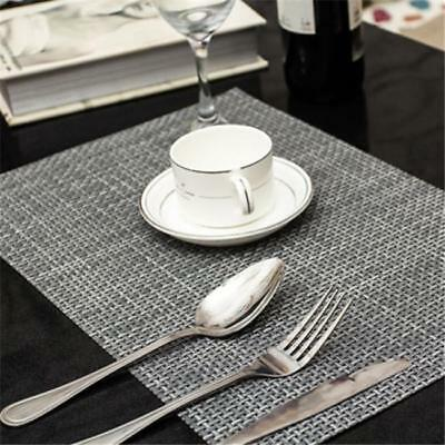 Kitchen PVC Table Placemats Insulation Dining Table Mats Coasters Tableware W & KITCHEN PVC TABLE Placemats Insulation Dining Table Mats Coasters ...