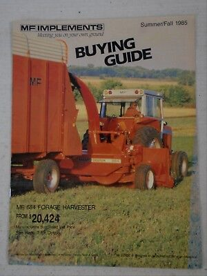 Advertising Brochure Catalog 1985 MF Massey Ferguson Implements Bailer Plow +++