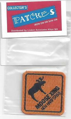 Embroidered Patch  New Hampshire Moose Xing