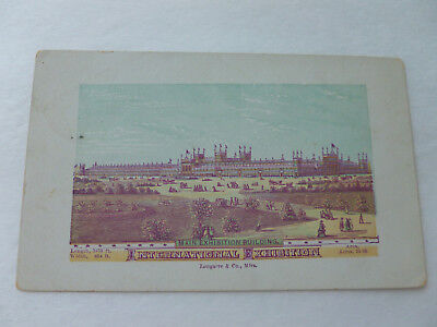 "1876 Philadelphia Exposition Color Trade Card-Exhibition Bldg. (5.5"" x 3.5"")"