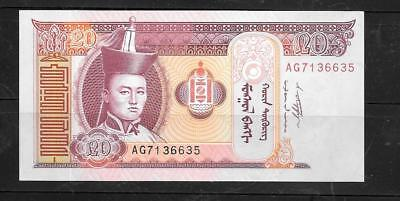 MONGOLIA #63g 2011 MINT CRISP 20 TUFRIK BANKNOTE NOTE CURRENCY PAPER MONEY