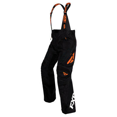 FXR™ X-System Insulated Orange Men's Snowmobile Pants/Bibs, 180110-1030-XX