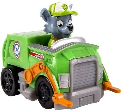 Paw Patrol Rescue Racer Rocky in Recycle Truck Figure [Figure Does Not Come Out]