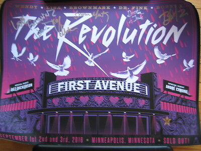 Prince The Revolution SIGNED POSTER First Ave MN by members of Revolution