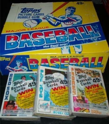 1984 Topps BASEBALL CARD Unopened CELLO pack FROM CASE