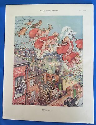 WWII March 1940 PUNCH Magazine Print Spring Number, Please Check The Pictures!