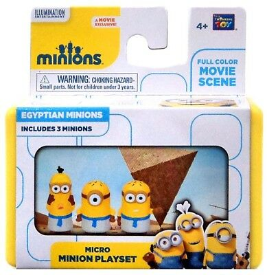Despicable Me Minions Movie Egyptian Minions 2-Inch Micro Playset
