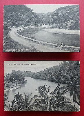 2- Vintage, early '900s postcards from Bog Walk, Port Antonio, Jamaica