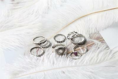 9 PC/Set Compact Ring Fashion Women's Ring Different Ring Set For Women