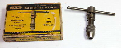 """General Tools #0 - 1/4"""" Reversible Ratchet Tap Wrench  #161R nice in box"""