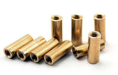 3pcs Knife Handle Brass Screw M3.5 Round Coupling Nuts Connector DIY 12mm