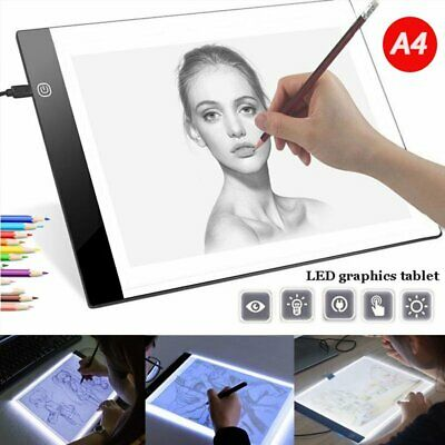 A4 USB LED Artist Thin Art Stencil Board Light Tracing Drawing Pad Table Paint