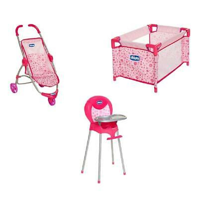 Chicco - Chicco Toy Nursery Time Fun - Playard, Stroller, High Chair for Dolls