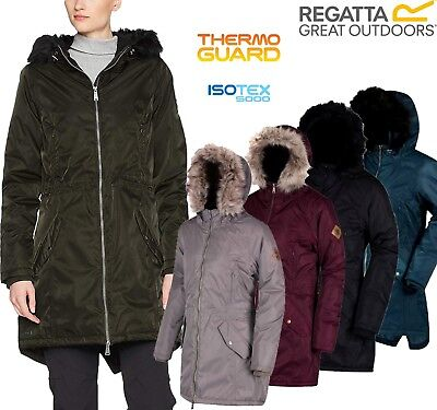 Regatta Ladies Lucetta Insulated Waterproof Breathable Womens Long Jacket Coat