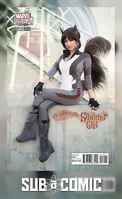 UNBEATABLE SQUIRREL GIRL #12 COSPLAY VARIANT (MARVEL 2016 1st Print) COMIC