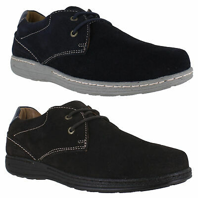 Mens Hush Puppies Two Eyelet Casual Suede Smart Lace Up Shoes Sizes 6 to 12