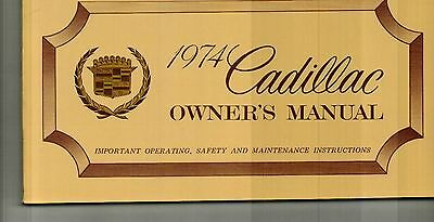 1974 Cadillac Owner's Manual - Nos New Old Stock