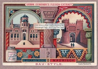 Byzantine Architecture Art Nouveau Chromo Trade Ad Card c1898