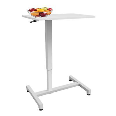 Allcam ACGBT05 Gas Spring Over bed/chair Table White Height Adjustable 74-114cm