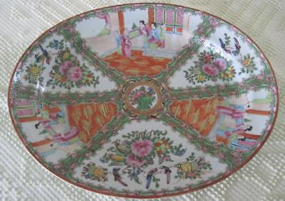 """Chinese Export Rose Medallion Late 19th Century 15"""" Oval Platter"""