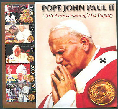 POPE JOHN PAUL II GHANA Block VF