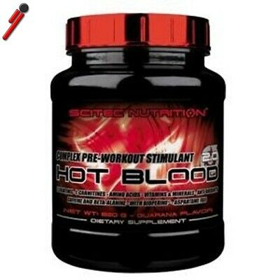 Scitec Nutrition, Hot Blood, 820 g. Pre Workout con Creatina Arginina Taurina