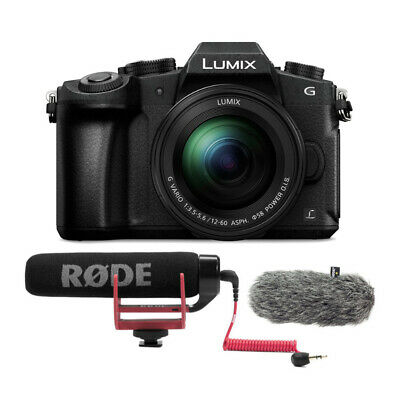 PANASONIC LUMIX G85 4K Mirrorless Camera with Rode VMGO Video Mic bundle