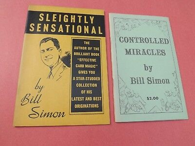 2 Card Trick  Books BILL SIMON Sleightly Sensational & Controlled Miracles