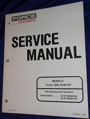 BS523 Force Outboards Models 1995 40 / 50 HP Service Manual