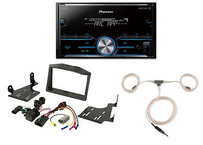 Pioneer Bluetooth Digital Media Radio, Scosche Polaris Dash Kit, Marine Antenna
