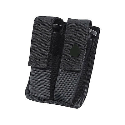 UTG Dual Pistol Magazine Mag Pouch ALICE Clips Roomy Pockets Synthetic Leather