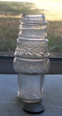 Nice Victorian Light Purple Condiment Bottle With Grounded Lip