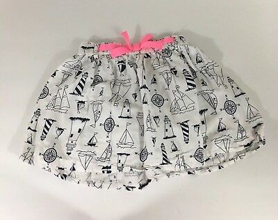 Carter's Skirt Girls Size 4T White Nautical Sailboats Lighthouses