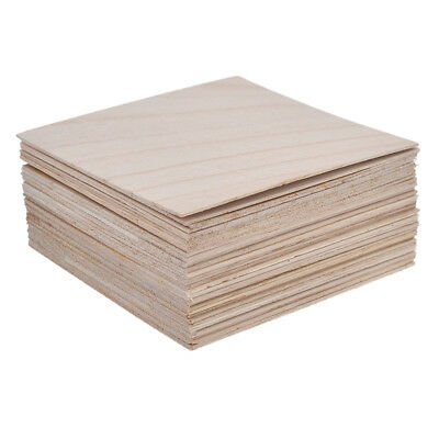 20/40 Pc Wood Sheets Wooden Plate Model for DIY House Ship Aircraft Craft 100mm