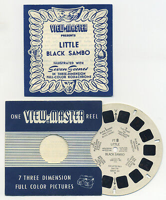 Little Black Sambo 1948 RARE Belgium-made Sawyer's ViewMaster Reel FT-8