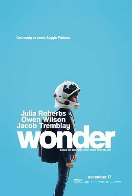 Wonder - original DS movie poster - 27x40 D/S 2017 Julia Roberts FINAL