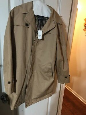NWT $399 Brooks Brothers 346 Mid-Length Cotton Trench Coat in Khaki,  40 S Large