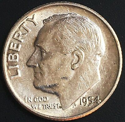 1954 USA Roosevelt Silver Dime ***Great Condition*** 90% Silver Coin
