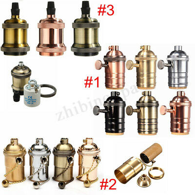 E27/E26 Retro Vintage Edison Screw Pendant Lighting Bulb Lamp Holder Base Socket
