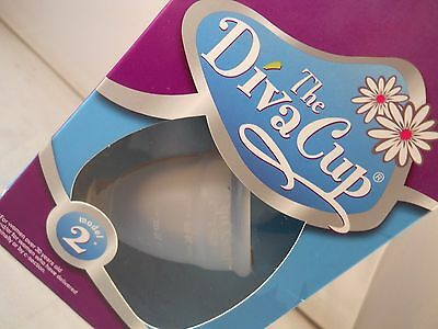 Diva Cup Model 2 Menstrual Cup, for women over 30 yrs old (new -sealed item)