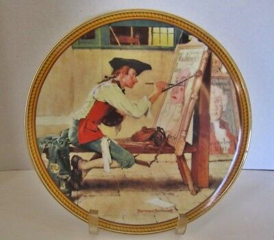 "Sign Of The Times Rare Norman Rockwell Limited Edition 9.5"" Plate From '88"