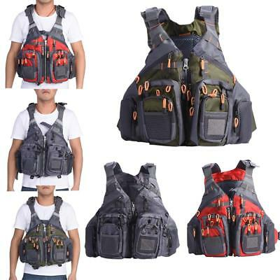 Adults Adjustable Buoyancy Fishing Life Jacket Swimming Surfing Kayak Vest CO