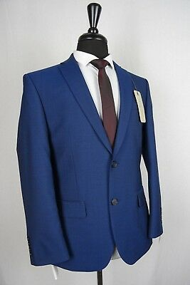 Men/'s Blue Tailored Fit Suit Hammond /& Co By Patrick Grant VB123