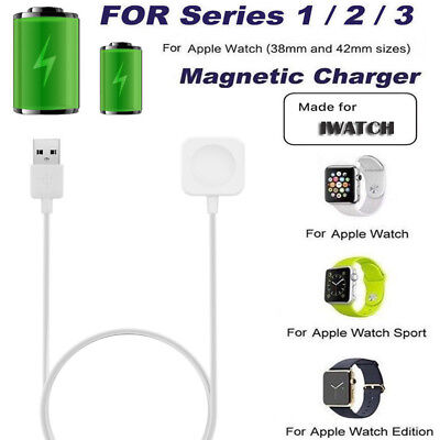 For Apple Watch Series 1/2/3 iWatch Charger Charging Pad Cable 38/42mm Portable