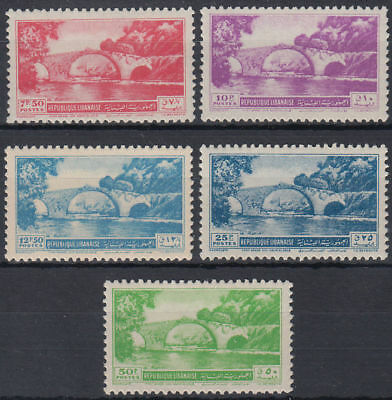 Libanon Lebanon 1950 ** Mi.430/34 Freimarken Definitives Brücke Bridge
