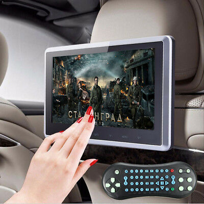 """10.1"""" LCD HD Car Headrest Monitor Video Game DVD Player Touch-button Screen USB"""